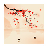 Oriental Style Painting, Plum Blossom In Spring Prints by  ori-artiste