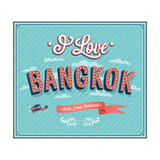 Vintage Greeting Card From Bangkok - Thailand 高品質プリント :  MiloArt