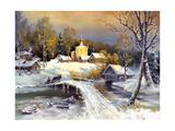 Rural Landscape, Oil On A Canvas Affiche par  balaikin2009