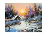 Rural Winter Landscape Affiche par  balaikin2009