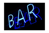 Abstract Neon Sign Bar Print by  kirza
