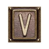Metal Button Alphabet Letter V Posters av  donatas1205
