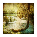 Artwork In Retro Style - Waterfall Prints by  Maugli-l