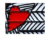Heart Painted On Metal Premium Giclee-trykk av  AMDavis