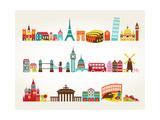Travel And Tourism Locations Láminas por  Marish
