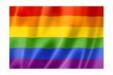 Rainbow Gay Pride Flag Affiches par  daboost