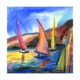 Sailing Boats In The Sea Affiches par  balaikin2009