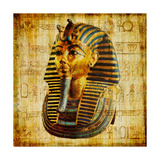 Egyptian Papyrus With Pharaoh Poster by  Maugli-l