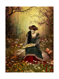 A Woman Reading A Book Poster av Atelier Sommerland