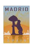 Madrid Vintage Poster Kunst von  paulrommer