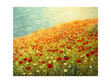 Poppies On The Seashore Print by  kirilstanchev