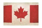Canada Flag On Canvas Affiches par  duallogic