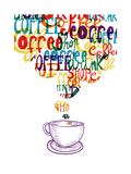 Cute Vintage Coffee Social Concept Prints by  cienpies