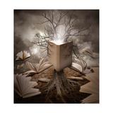 Old Tree Reading Story Book Pôsters por  Angela_Waye