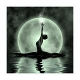 Moonlight Yoga Meditation Posters by  Detelina