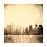 Grunge Image Of New York Skyline 高品質プリント :  javarman