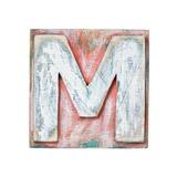 Wooden Alphabet Block, Letter M Posters av  donatas1205
