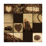 Artistic Collage Of Coffee Beans Pôsteres por Wavebreak Media Ltd