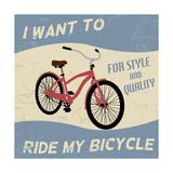 Bicycle Vintage Poster Láminas por  radubalint