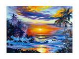 Beautiful Sea Evening Landscape Art par  balaikin2009