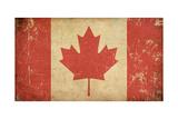 Canadian Aged Flat Flag Art by  nazlisart