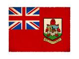 Grunge Flag Of Bermuda Prints by  cmfotoworks