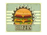 Retro Cover For Fast Food Menu Art par  elfivetrov