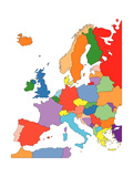 Europe With Editable Countries Print by Bruce Jones