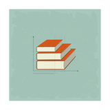 Vintage Infographics Books Julisteet tekijänä  elfivetrov