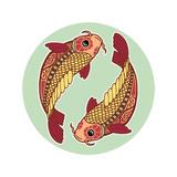 Zodiac Signs - Pisces Poster por  krasstin