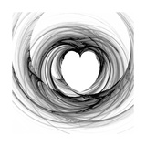Black And White Sketch Heart Pósters por  cycreation