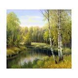 Autumn Landscape, Canvas, Oil Posters par  balaikin2009
