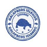 Galapagos Islands Stamp Kunstdruck von  radubalint