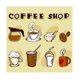 Coffee Design Elements Kunstdrucke von  jackrust