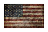 American Flag Background Prints by  alexfiodorov