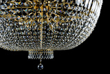 Closeup Contemporary Glass Chandelier Photographic Print by  mj_23