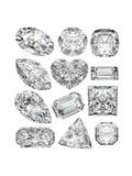 Diamond Shapes Poster by  Model-la