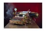 Steampunk Typewriter Print by  3355m