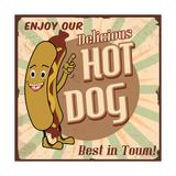 Hot Dog Poster Prints by  radubalint