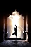 Yoga In Temple Poster von Marina Pissarova