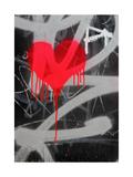 Cuore sanguinante Poster di  barsik