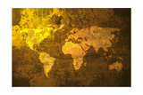 Aged World Map Láminas por  ilolab