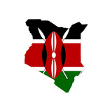 Kenya Flag On Map Poster by  Speedfighter