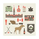 Canada Icons Pôsters por vector pro