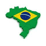 3D Map Of Brazil Kunst av  vinz89