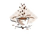 Coffee Sign Poster tekijänä  Modestil