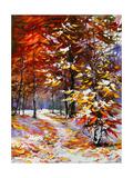 Road To Autumn Wood Posters par  balaikin2009