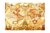 Antike Weltkarte Poster von  oersin