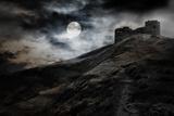Night, Moon And Dark Fortress Fotografie-Druck von  fotosutra.com