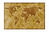 Carte ancienne du monde Affiches par  Arcoss